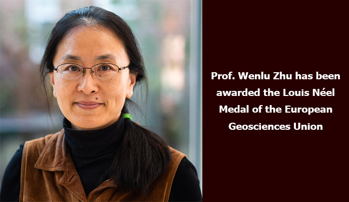 Prof. Wenlu Zhu has been awarded the Louis Néel Medal of the European Geosciences Union.