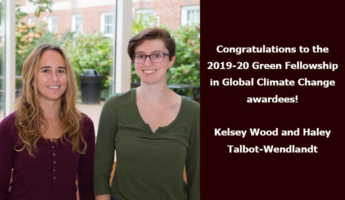 Congratulations to the 2019-20 Green Fellowship in Global Climate Change awardees!