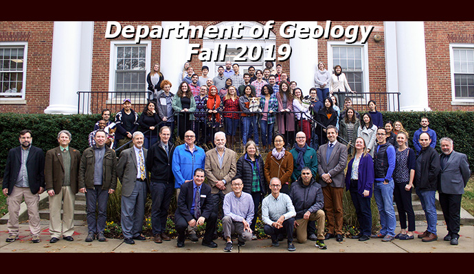 Department of Geology Department Photo 2019