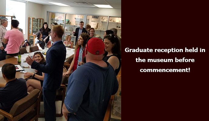 The Class of '18 and their friends and family gathered in the museum to celebrate their graduation before the CMNS commencement. Congrats to you all!