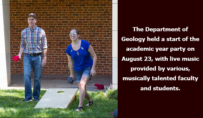 The Department of Geology held a start of the academic year party on August 23, with live music provided by various, musically talented faculty and students.
